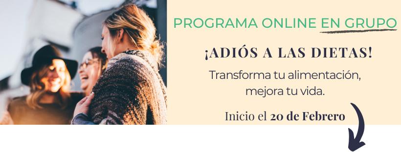 Sandra Navó, programa online adiós a las dietas para transformar tu alimentación